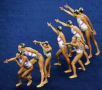 ITALY - ITALIA.Elisa BOZZO, Beatrice CALLEGARI, Camilla CATTANEO, Costanza FIORENTINI, Manila FLAMINI, Mariangela PERRUPATO, Benedetta RE, Sara SGARZI.Technical Teams Synchro - Sincronizzato.Shanghai 19/7/2011 .14th FINA World Championships.Foto Andrea Staccioli Insidefoto