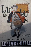 Europe/France/Ile-de-France/75018/Paris: Ancienne affiche pour les biscuits Lu rue d'Auteuil