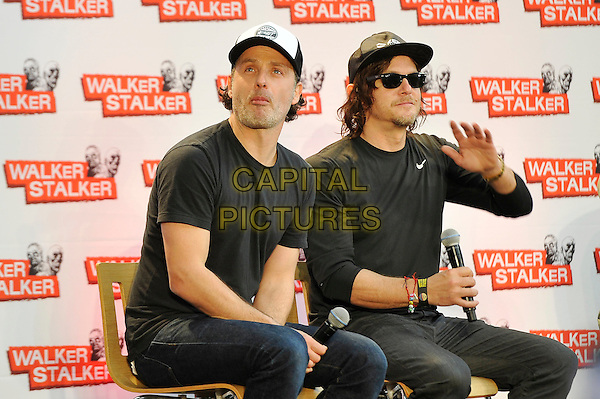 LONDON, ENGLAND - FEBRUARY 21: Andrew Lincoln and Norman Reedus attending 'Walker Stalker Con 2015' at Olympia in London on February 21, 2016 in London, England.<br /> CAP/MAR<br /> &copy; Martin Harris/Capital Pictures