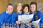 Receiving their Junior Certificate results were Chloe Dalton, Muireann Tierney, Ciara O'Connor and Eimear Morris from Abbeyfeale, pictured here on Wednesday in Colaiste Ide agus Iosef, Abbeyfeale.