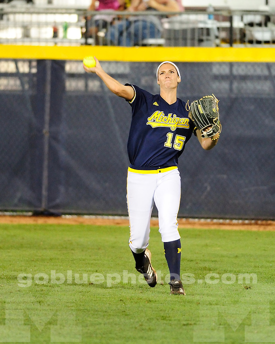 The University of Michigan softball team shut out No. 4 Arizona State, 2-0, in the Women's College World Series at ASA Hall of Fame Stadium in Oklahoma City, Okla., on June 1, 2013.
