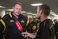 The Lions head coach Chris Gibbes during the Wellington Lions season launch at 89 Courtenay Place in Wellington, New Zealand on Friday, 11 August 2017. Photo: Marty Melville / lintottphoto.co.nz