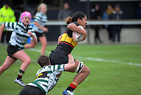 Action from the Wellington premier club rugby Rebecca Liua'ana Trophy match between Paremata-Plimmerton and Old Boys' University at Ngatitoa Domain in Wellington, New Zealand on Saturday, 6 April 2019. Photo: Dave Lintott / lintottphoto.co.nz