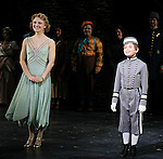 Emilee Dupre & Ethan Khusidman during the Curtain Call and check presentation to The Lil' Bravest Charity Inc. at 'Chaplin' at the Barrymore Theatre in New York City on 11/09/2012