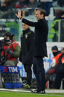 Calcio, Serie A: Juventus vs Bologna. Torino, Juventus Stadium, 8 gennaio 2017.<br /> Juventus coach Massimiliano Allegri gives indications to his players during the Italian Serie A football match between Juventus and Bologna at Turin's Juventus Stadium, 8 January 2017. Juventus won 3-0.<br /> UPDATE IMAGES PRESS/Manuela Viganti