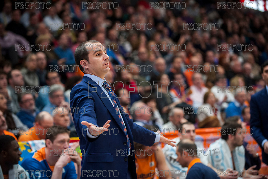 VALENCIA, SPAIN - MARCH 5: Carles Durán during EURO CUP match between Valencia Basket Club and Bascelona F.C. Basket at Fonteta Stadium on March 22, 2015 in Valencia, Spain
