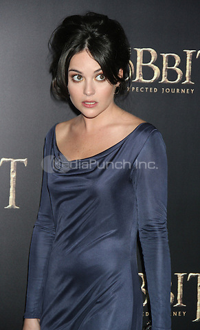 NEW YORK, NY - DECEMBER 6: Sarah Greene at the US premiere of The Hobbit: An Unexpected Journey at the Ziegfeld Theatre in New York City. December 6, 2012. Credit: RW/MediaPunch Inc.