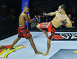 CORAL GABLES, FL - SEPTEMBER 09: (L-R) Ramon Emilio Nartinez fight Caio Urugaui in their 130 Catchweight bout during the TITAN FC41 UFC fight event at Bank United Center on September 9, 2016 in Miami, Florida. ( Photo by Johnny Louis / jlnphotography.com )