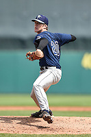 Jake Woodford (20) of H.B. Plant High School in Tampa, Florida playing for the Tampa Bay Rays scout team during the East Coast Pro Showcase on July 31, 2014 at NBT Bank Stadium in Syracuse, New York.  (Mike Janes/Four Seam Images)