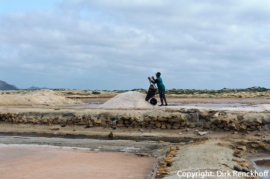 Saline in Santa Maria, Sal, Kapverden, Afrika