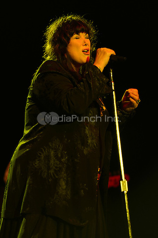 HOLLYWOOD FL - NOVEMBER 4 :  Ann Wilson of Heart performs at Hard Rock live held at the Seminole Hard Rock hotel & Casino on November 4, 2012 in Hollywood, Florida.  Credit: mpi04/MediaPunch Inc.