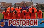 ENVIGADO – COLOMBIA _ 25-01-2014 / En compromiso correspondiente a la primera jornada del Torneo Apertura Colombiano 2014, Envigado FC cayó derrotado 1 – 2 ante Millonarios en el estadio Polideportivo Sur de Envigado. / Nómina inicial del Envigado.