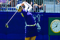 Chella Choi (KOR) watches her tee shot on 1 during Sunday's final round of the 2017 KPMG Women's PGA Championship, at Olympia Fields Country Club, Olympia Fields, Illinois. 7/2/2017.<br /> Picture: Golffile   Ken Murray<br /> <br /> <br /> All photo usage must carry mandatory copyright credit (&copy; Golffile   Ken Murray)