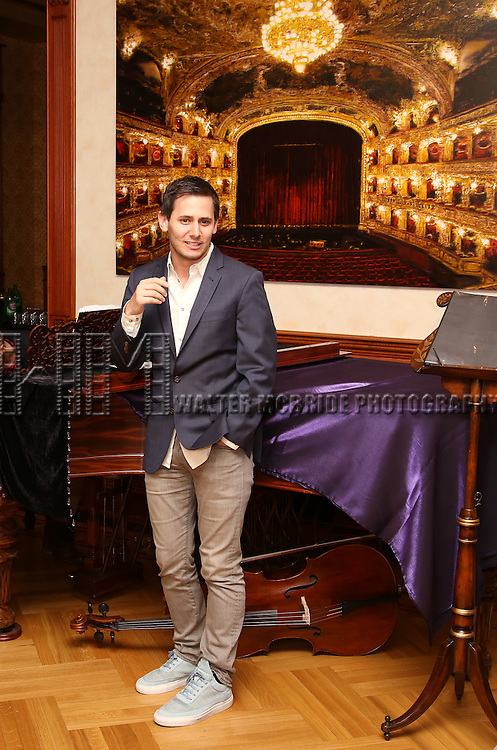 Benj Pasek during the Dramatists Guild Fund intimate salon with Benj Pasek and Justin Paul at the home of Kara Unterberg on March 7, 2016 in New York City.