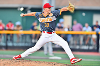 Johnson City Cardinals pitcher Jacob Sylvester (30) delivers a pitch during a game against the Pulaski Yankees at TVA Credit Union Ballpark on July 7, 2018 in Johnson City, Tennessee. The Cardinals defeated the Yankees 7-3. (Tony Farlow/Four Seam Images)