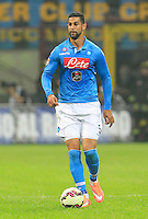 Miguel Britos  during the Italian serie A   soccer match between SSC Napoli and Inter    at  the San Siro    stadium in Milan  Italy , Octoberr 19 , 2014