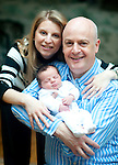 Natalie and George Pascoe Watson with new baby week old William....Picture by Gavin Rodgers/ Pixel8000. 07917221968