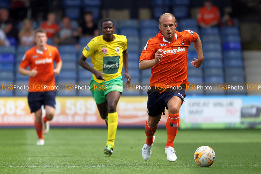 Jake Howells (Luton Town)  on the attack - Luton Town vs Royal Antwerp - Pre-Season Friendly Football Match at Kenilworth Road, Luton, Bedfordshire - 26/07/14 - MANDATORY CREDIT: Mick Kearns/TGSPHOTO - Self billing applies where appropriate - contact@tgsphoto.co.uk - NO UNPAID USE