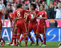 FUSSBALL   1. BUNDESLIGA  SAISON 2012/2013   3. Spieltag FC Bayern Muenchen - FSV Mainz 05     15.09.2012 Javi , Javier Martinez, Dante und Toni Kroos (v. li., FC Bayern Muenchen)