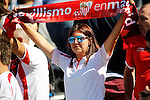 Sevilla FC's supporter during La Liga match. October 15,2016. (ALTERPHOTOS/Acero)