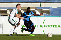 MARBELLA  - Voetbal, Club Brugge - FC Groningen, Trainingskamp , seizoen 2017-2018, 10-01-2018,  FC Groningen speler Todd Kane met Marvelous Nakamba