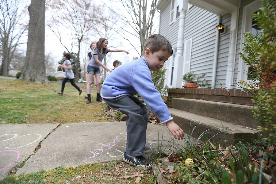Easter with the kids at Chiles Orchard and easter egg hunt at Anderson's house April 27, 2016 in Charlottesville, Va. Photo/Andrew Shurtleff