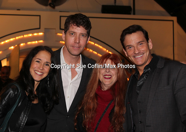 Guiding Light's Sean McDermott with James Barbour, the star of The Phantom of the Opera as The Phantom and his wife as they pose with Jane Elissa at The 29th Annual Jane Elissa Extravaganza which benefits The Jane Elissa Charitable Fund for Leukemia & Lymphoma Cancer, Broadway Cares and other charities on November 14, 2016 at the New York Marriott Hotel, New York City presented by Bridgehampton National Bank and Walgreens.  The event is a Cabaret with singer Sean McDermott (Guiding Light) (Photo by Sue Coflin/Max Photos)