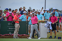 Webb Simpson (USA) approaches the first tee during round 4 of The Players Championship, TPC Sawgrass, at Ponte Vedra, Florida, USA. 5/13/2018.<br /> Picture: Golffile | Ken Murray<br /> <br /> <br /> All photo usage must carry mandatory copyright credit (&copy; Golffile | Ken Murray)