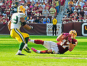 Washington Redskins tight end Chris Cooley (47) makes a key reception in overtime against the  Green Bay Packers at FedEx Field in Landover, Maryland on Sunday, October 10, 2010.  The Redskins won the game in overtime 16 - 13..Credit: Ron Sachs / CNP