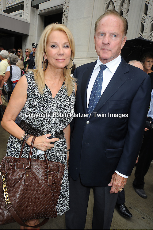 Kathie Lee Gifford and Frank Gifford attends Marvin Hamlisch's funeral on August 14, 2012 .at Temple Emanuel in New York City.
