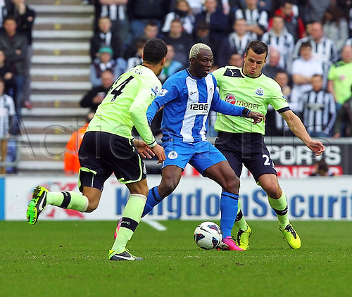 17.03.2013 Wigan, England. Arouna Koné of Wigan Athletic  in action during the Premier League game between Wigan Athletic and Newcastle United at the DW Stadium.