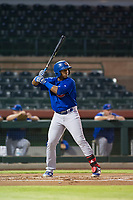AZL Cubs left fielder Nelson Velazquez (20) at bat against the AZL Cubs on September 5, 2017 at Scottsdale Stadium in Scottsdale, Arizona. AZL Cubs defeated the AZL Giants 10-4 to take a 1-0 lead in the Arizona League Championship Series. (Zachary Lucy/Four Seam Images)