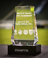 Carson, California - Friday, July18, 2014: The U.S. U-20 MNT ties Australia 0-0 and wins the US Soccer National Training Center (NTC) Invitational tournament at StubHub Center stadium.
