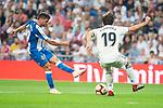 Real Madrid Alvaro Odriozola and RCD Espanyol Pablo Piatti during La Liga match between Real Madrid and RCD Espanyol at Santiago Bernabeu Stadium in Madrid, Spain. September 22, 2018. (ALTERPHOTOS/Borja B.Hojas)