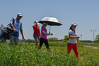 Sarah Jane Smith (AUS), Ayako Uebara (JPN), and Sei Young Kim (KOR) head down 3 during round 2 of  the Volunteers of America LPGA Texas Classic, at the Old American Golf Club in The Colony, Texas, USA. 5/6/2018.<br /> Picture: Golffile | Ken Murray<br /> <br /> <br /> All photo usage must carry mandatory copyright credit (&copy; Golffile | Ken Murray)