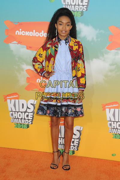 12 March 2016 - Inglewood, California - Yara Shahidi. 2016 Nickelodeon Kids' Choice Awards held at The Forum.  <br /> CAP/ADM/BP<br /> &copy;BP/ADM/Capital Pictures