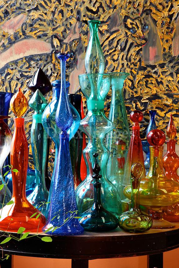colorful decorating bottles