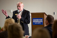 NWA Democrat-Gazette/JASON IVESTER <br /> Ed Clifford, chief executive officer for the Jones Trust, talks on Wednesday, Sept. 16, 2015, inside the Center for Nonprofits in Rogers on a planned project for the center.