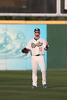 Alex Verdugo (16) of the Rancho Cucamonga Quakes throws before a game against the High Desert Mavericks at LoanMart Field on August 18, 2015 in Rancho Cucamonga, California. High Desert defeated Rancho Cucamonga, 4-0. (Larry Goren/Four Seam Images)
