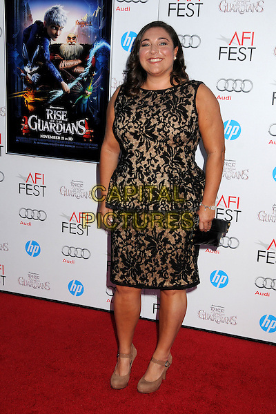 "Jo Frost.AFI FEST 2012 ""Rise of the Guardians"" Gala Screening held at Grauman's Chinese Theatre, Hollywood, California, USA..November 4th, 2012.full length black lace sleeveless dress peplum .CAP/ADM/BP.©Byron Purvis/AdMedia/Capital Pictures."