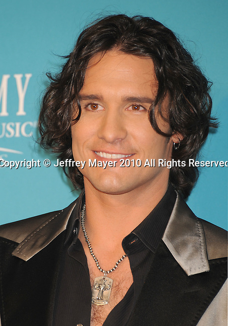 LAS VEGAS, NV. - April 18: Musician Joe Nichols  poses in the press room during the 45th Annual Academy of Country Music Awards at the MGM Grand Garden Arena on April 18, 2010 in Las Vegas, Nevada.