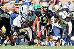 Palos Verdes, CA 09/09/11 - Matt Imwalle (Peninsula #17) in action during the North Torrance-Peninsula Panthers varsity football game.