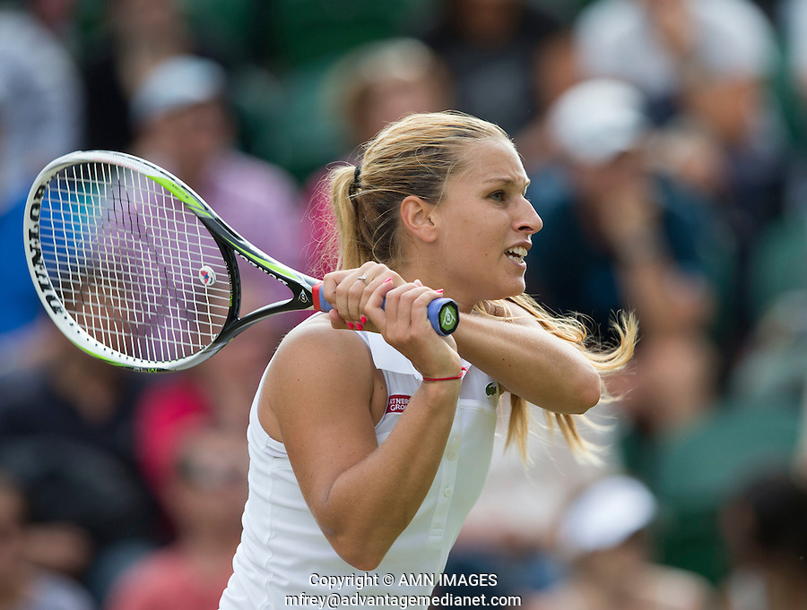 DOMINICA CIBULKOVA (SVK)<br /> <br /> The Championships Wimbledon 2014 - The All England Lawn Tennis Club -  London - UK -  ATP - ITF - WTA-2014  - Grand Slam - Great Britain -  27th June 2014. <br /> <br /> &copy; AMN IMAGES