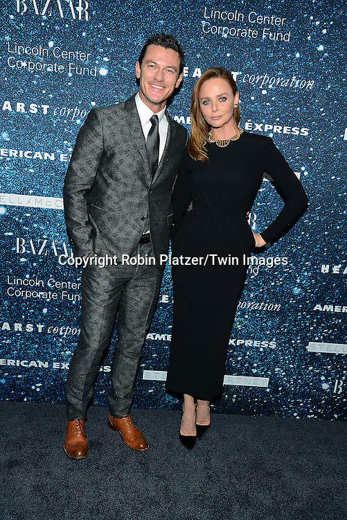 Luke Evans and Stella McCartney attends the Stella McCartney Honored by Lincoln Center at Gala on November 13, 2014 at Alice Tully Hall in New York City, USA. She was given the Women's Leadership Award which was presented bythe LIncoln Center for the Performing Arts' Corporate Fund.<br /> <br /> photo by Robin Platzer/Twin Images<br />  <br /> phone number 212-935-0770