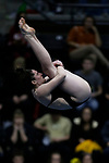 INDIANAPOLIS, IN - MARCH 18: Calli Head of the University of Iowa competes in the platform dive during the Division I Women's Swimming & Diving Championships held at the Indiana University Natatorium on March 18, 2017 in Indianapolis, Indiana. (Photo by A.J. Mast/NCAA Photos via Getty Images)