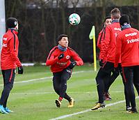 Carlos Salcedo (Eintracht Frankfurt) - 29.12.2017: Eintracht Frankfurt Training, Commerzbank Arena