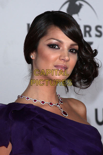 PAULA GARCES.NBC Universal's 67th Annual Golden Globe After Party held at Beverly  Hilton, Beverly Hills, California, USA..January 17th 2010.globes headshot portrait purple one shoulder dress necklace red.CAP/ADM/TC.©T.Conrad/Admedia/Capital Pictures