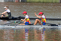 Sarasota. Florida USA.  Gold Medalist. ROU LW2X. Bow. Ionela-Livia LEHACI and Gianina-Elena. BELEAGA,<br /> Final A 2017 World Rowing Championships, Nathan Benderson Park<br /> <br /> Saturday  30.09.17   <br /> <br /> [Mandatory Credit. Peter SPURRIER/Intersport Images].<br /> <br /> <br /> NIKON CORPORATION -  NIKON D500  lens  VR 500mm f/4G IF-ED mm. 320 ISO 1/1600/sec. f 8