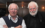 Robert Fisk and Fr Mich&eacute;al McGreil at the Rolling Sun Festival Westport<br /> Pic Conor McKeown
