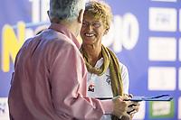 Mara Sacchi premia Renato Fusi ITA<br /> 45 Trofeo Nico Sapio Fin<br /> Genova, Piscina La Sciorba 9-10/11/2018<br /> Photo A.Masini/Deepbluemedia/Insidefoto